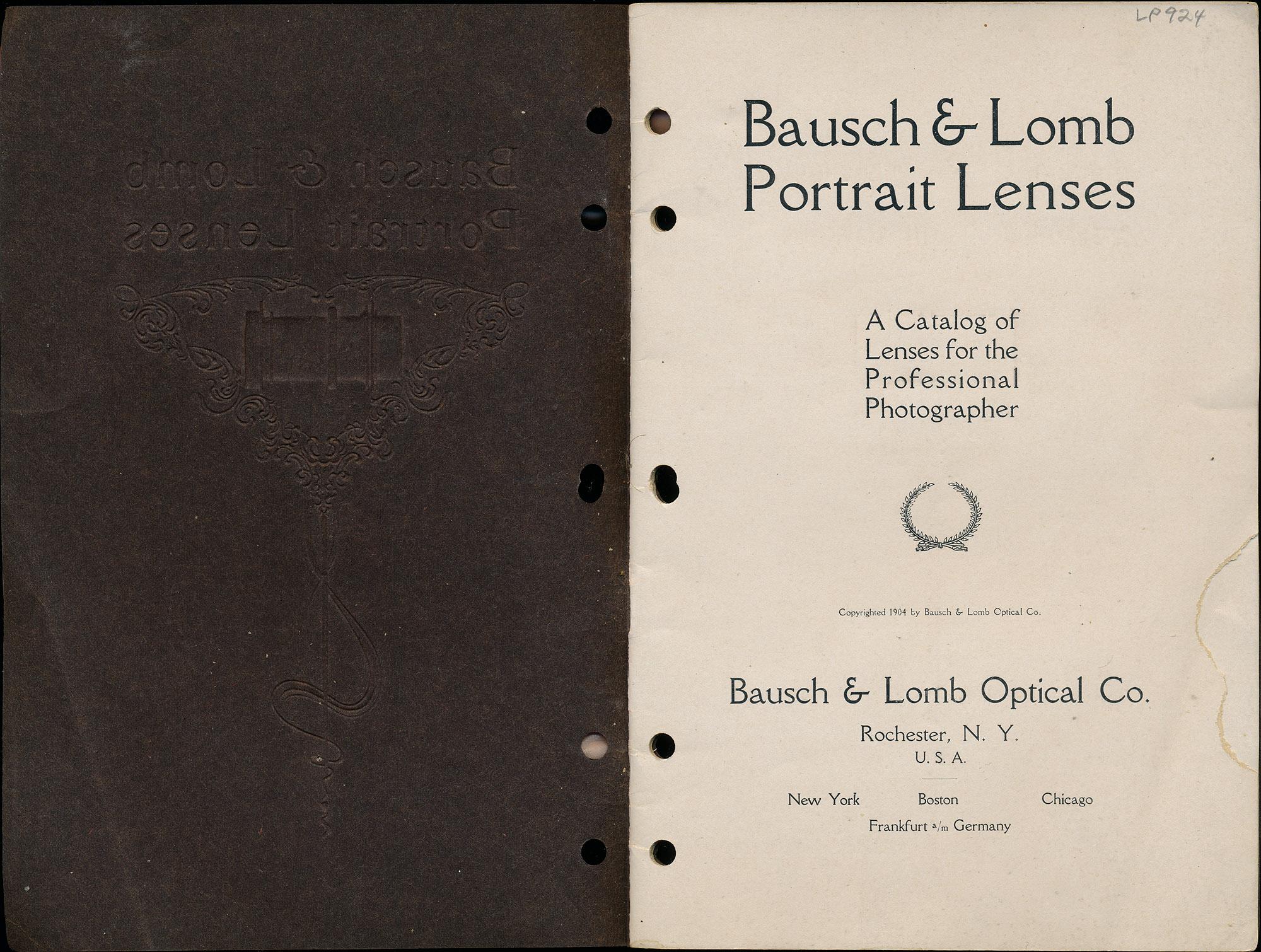 Bausch & Lomb Portrait Lenses, 1912