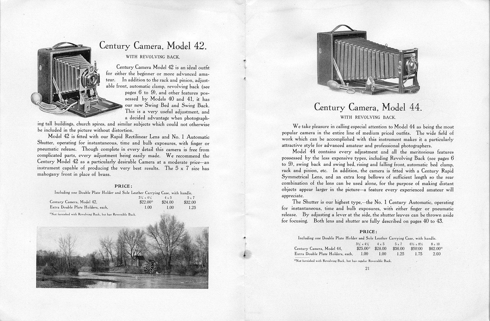 century cameras 1905   century camera co   rochester  ny
