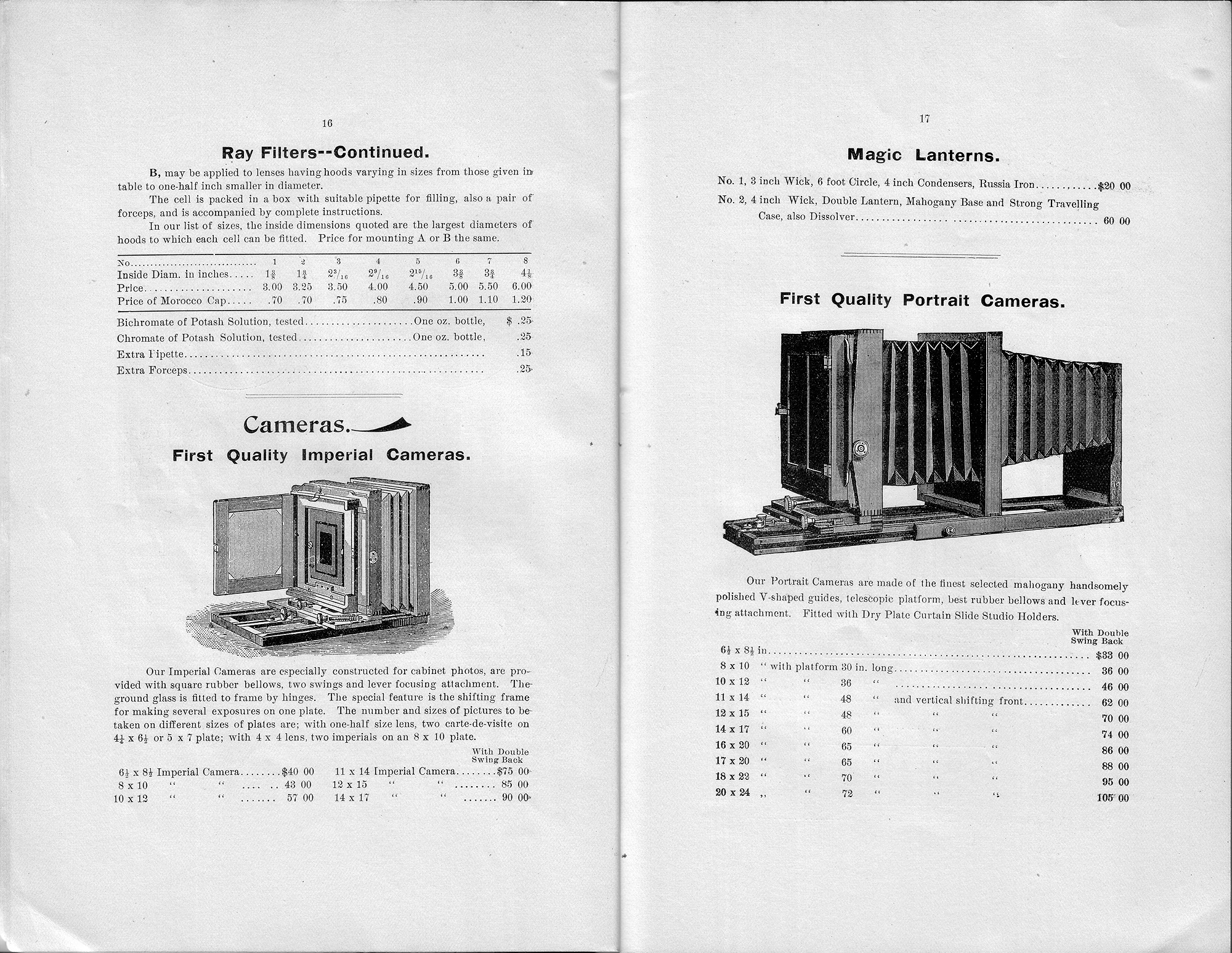 illustrated price list of photographic goods   george