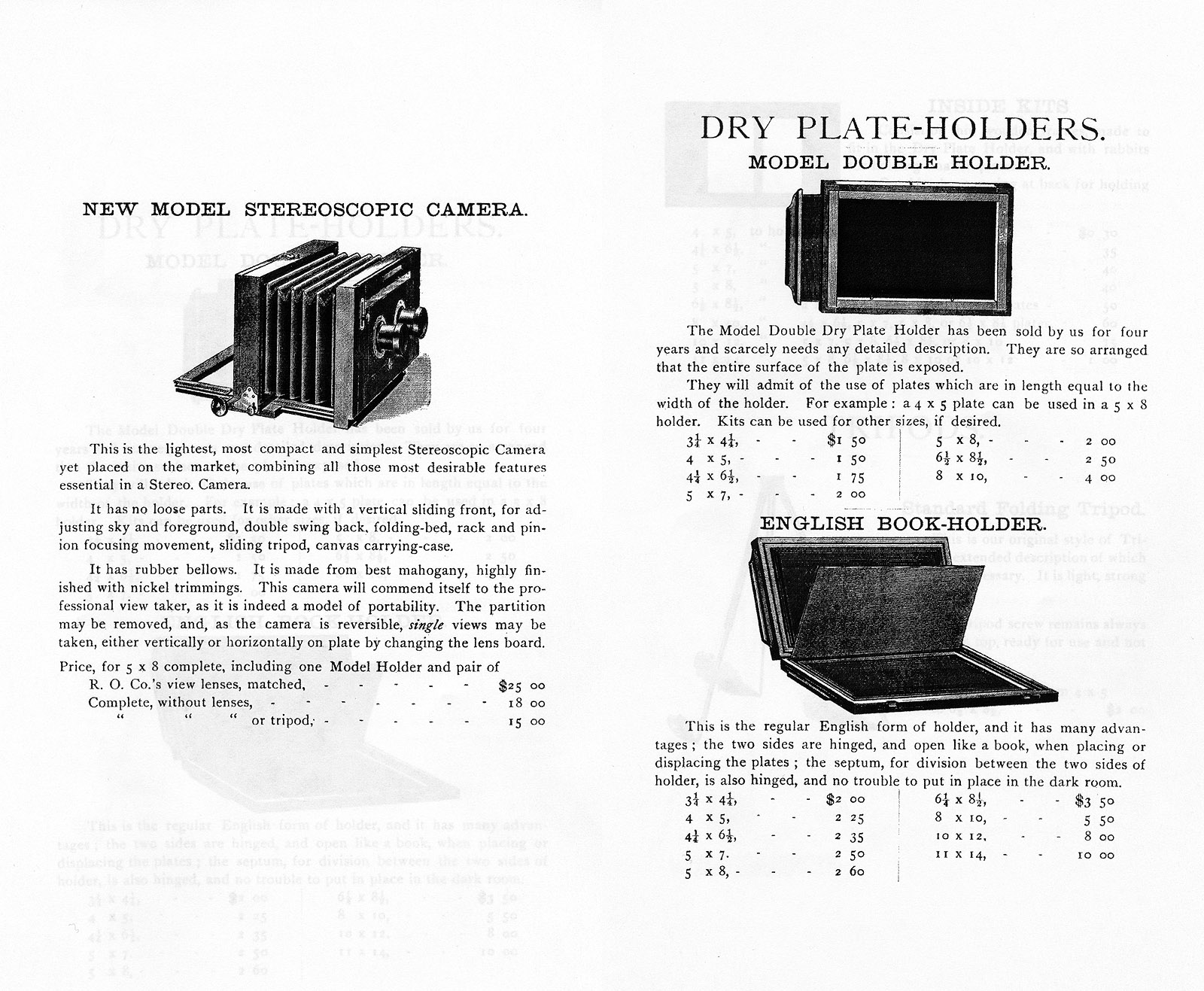 illustrated catalogue of photographic apparatus rochester optical